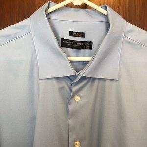 Pronto Uomo Men's Shirt Excellent 19 Neck 36-37
